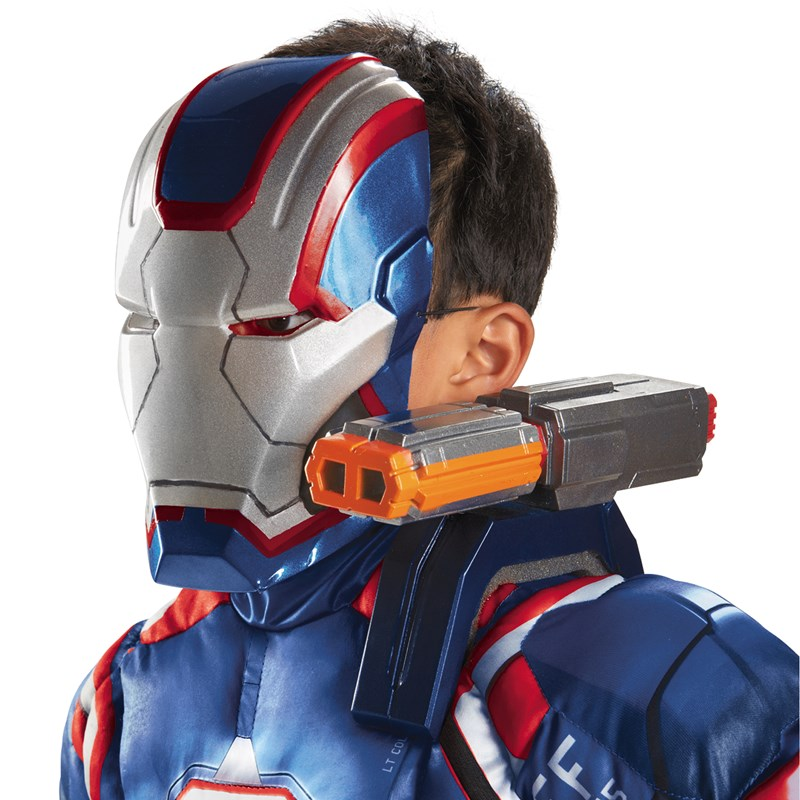 Iron Man 3 Iron Patriot Shoulder Chain Gun for the 2015 Costume season.