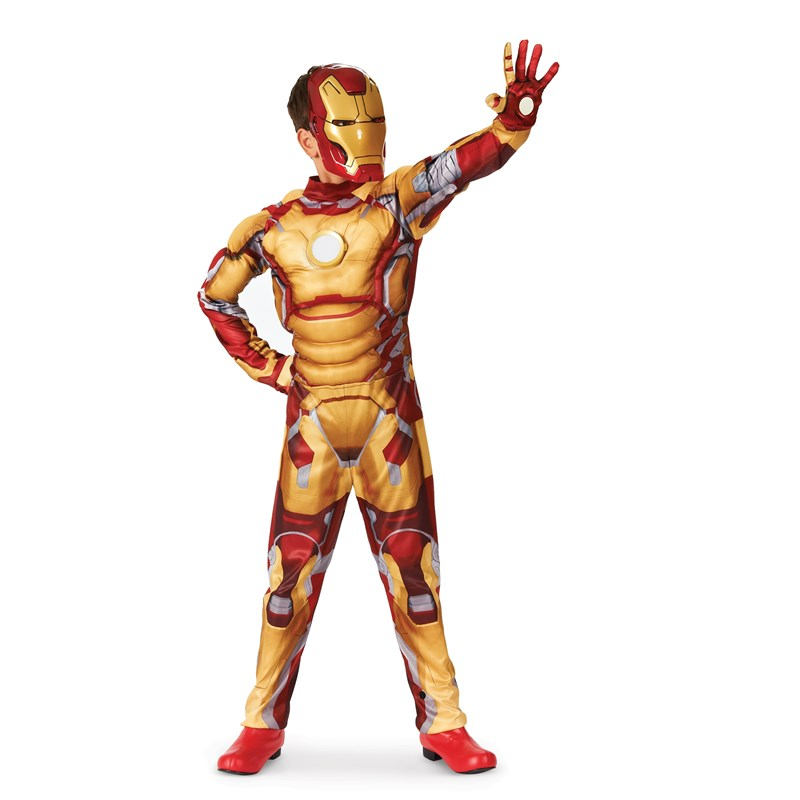 Iron Man 3 Mark 42 Muscle Light Up Child Costume for the 2015 Costume season.