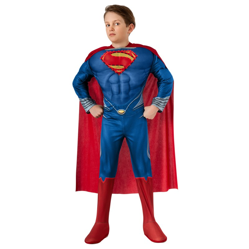 Superman Man of Steel Deluxe Light Up Child Costume for the 2015 Costume season.