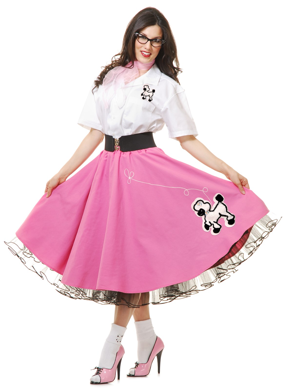 Complete 50s Poodle Outfit Adult Pink