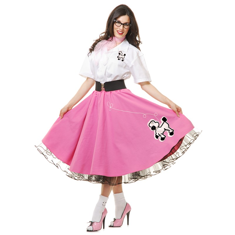 Complete 50s Poodle Outfit Adult Pink for the 2015 Costume season.