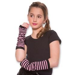 Kids Striped Arm Warmers