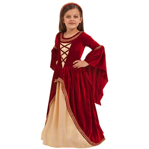 Crimson Renaissance Princess Kids Costume