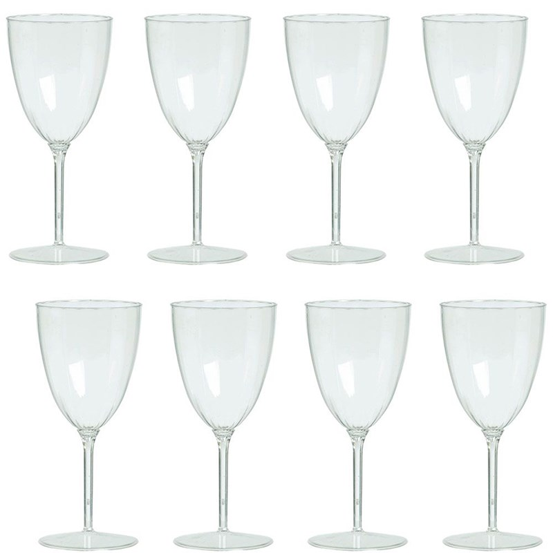 Clear Premium Plastic Wine Goblets Box Set for the 2015 Costume season.