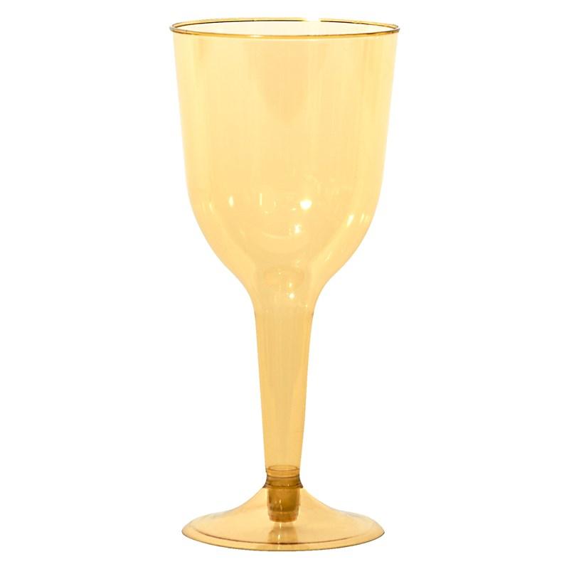 Gold 10 oz. Premium Plastic Wine Glasses (18 count) for the 2015 Costume season.