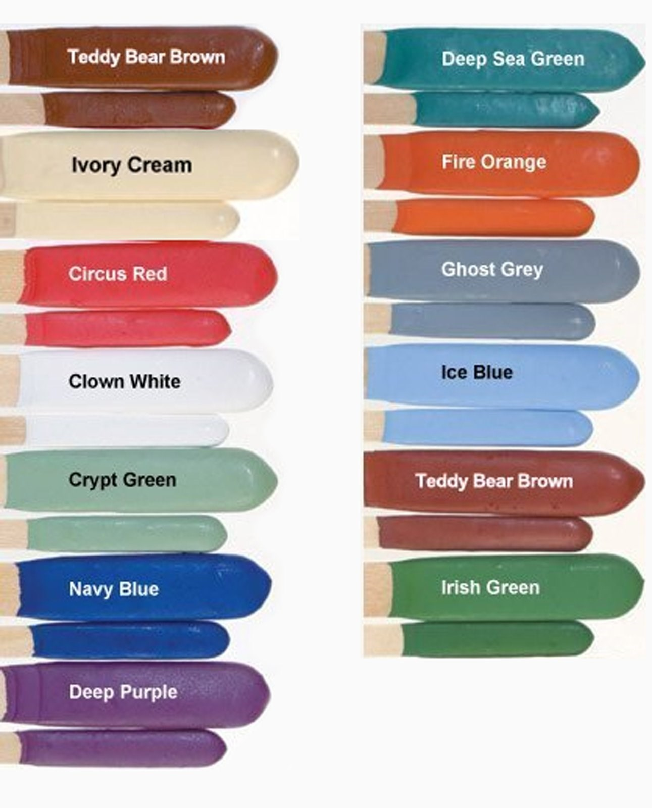 Face Painting Makeup Disguise Stix - Clearance Colors