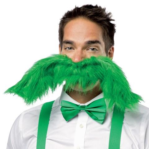 "Super 'Stache Green 20"" Mustache"