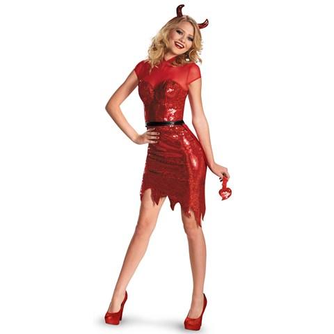 Deluxe Glam Sequin Devil Costume