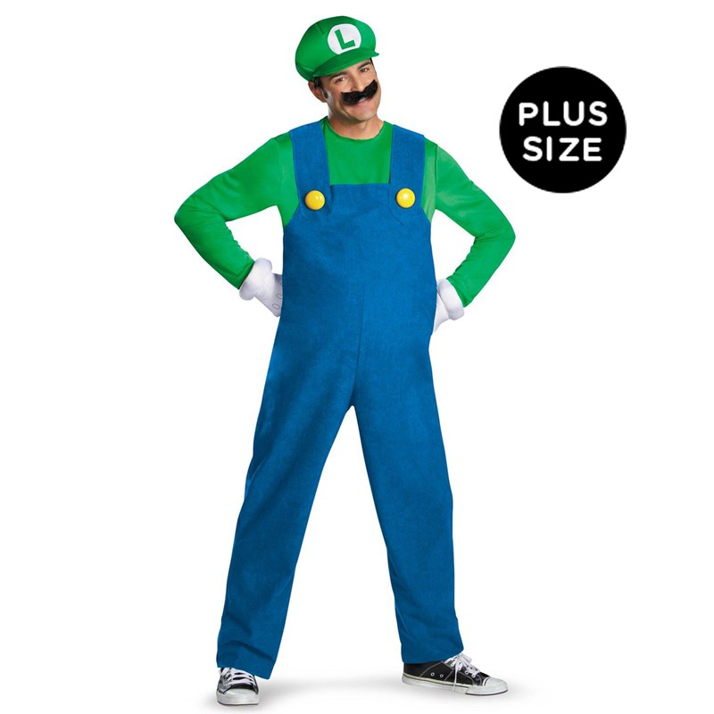 Super Mario Brothers   Luigi Adult Plus Size Costume for the 2015 Costume season.
