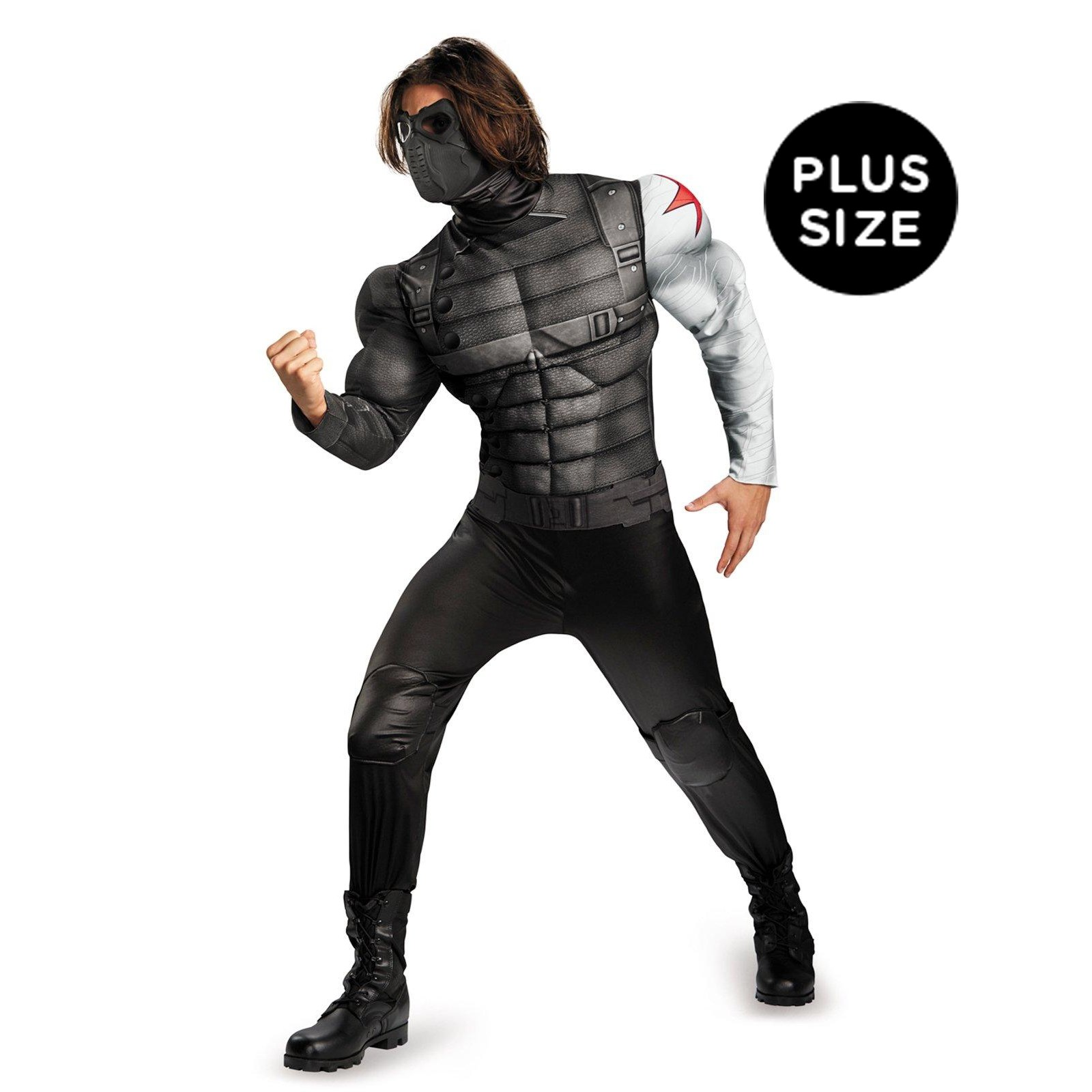 Captain America The Winter Soldier - Winter Soldier Muscle Chest Plus Size Costume