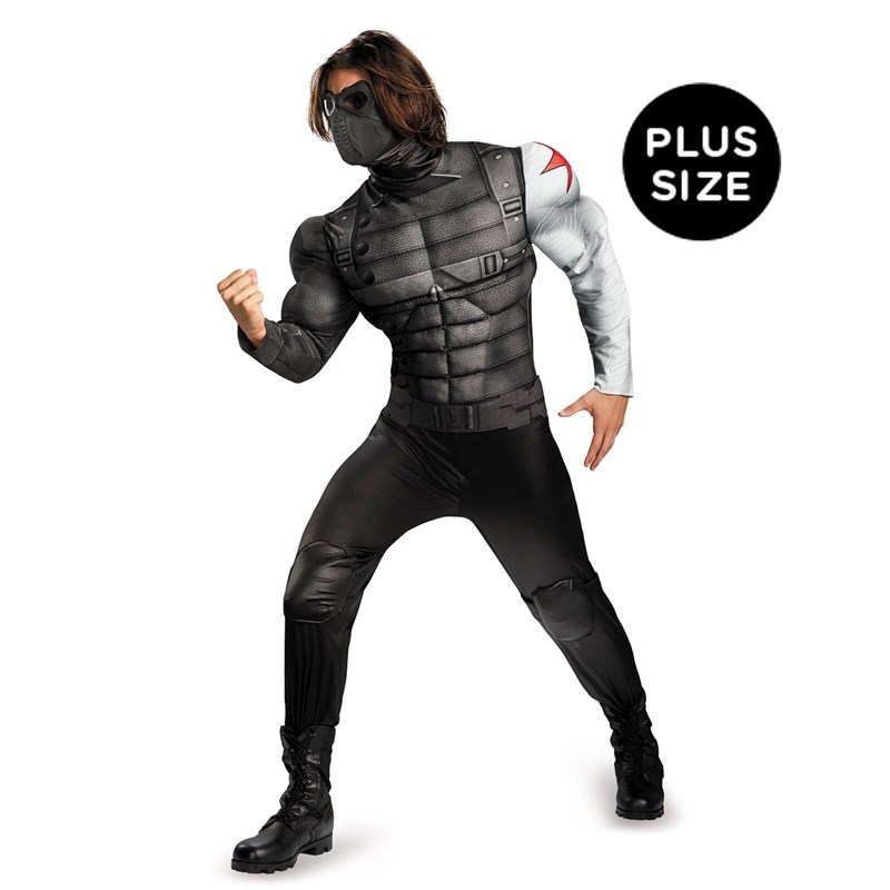 Captain America The Winter Soldier   Winter Soldier Muscle Chest Plus Size Costume for the 2015 Costume season.