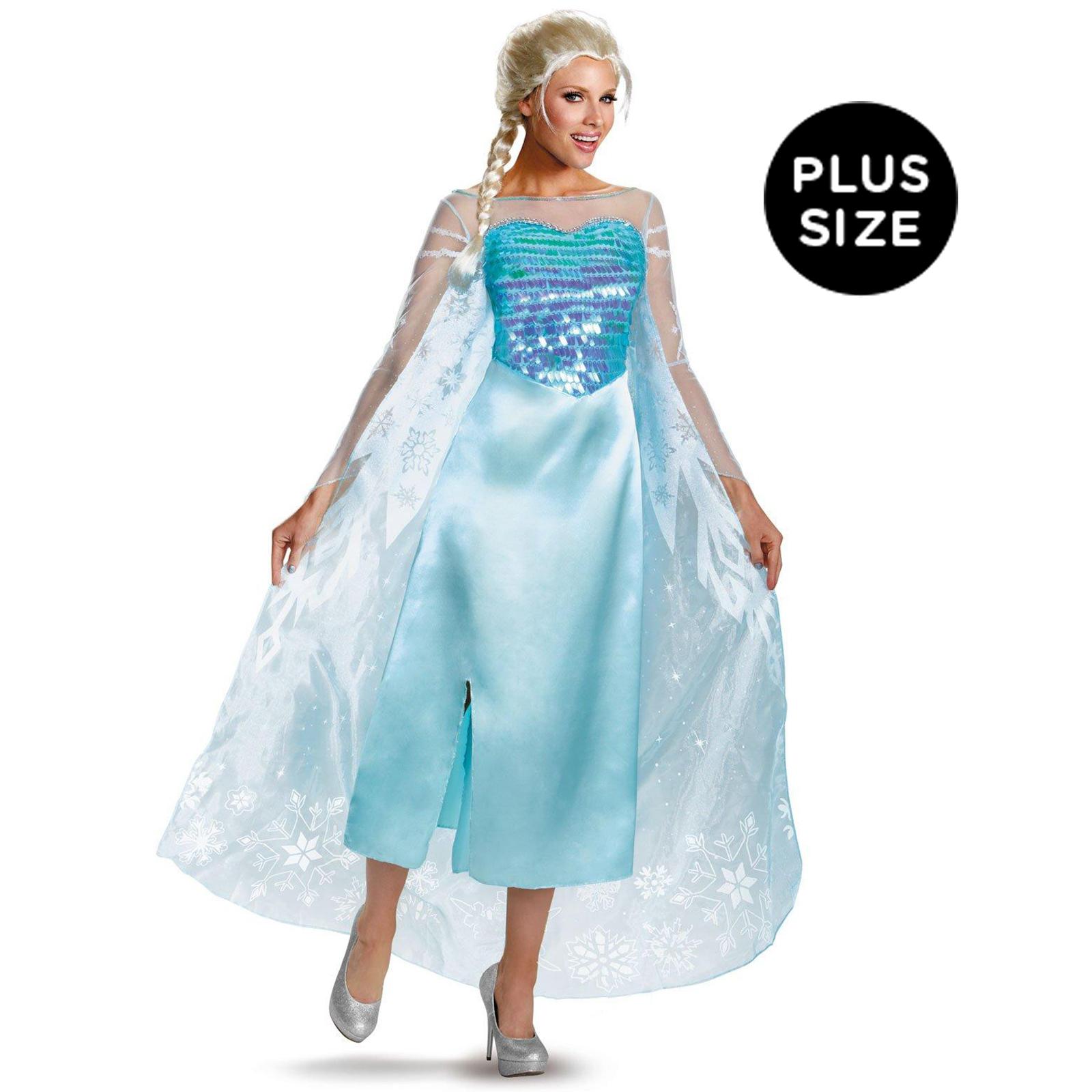 Disney Frozen   Plus Size Deluxe Elsa Dress   Female   Size Plus (18