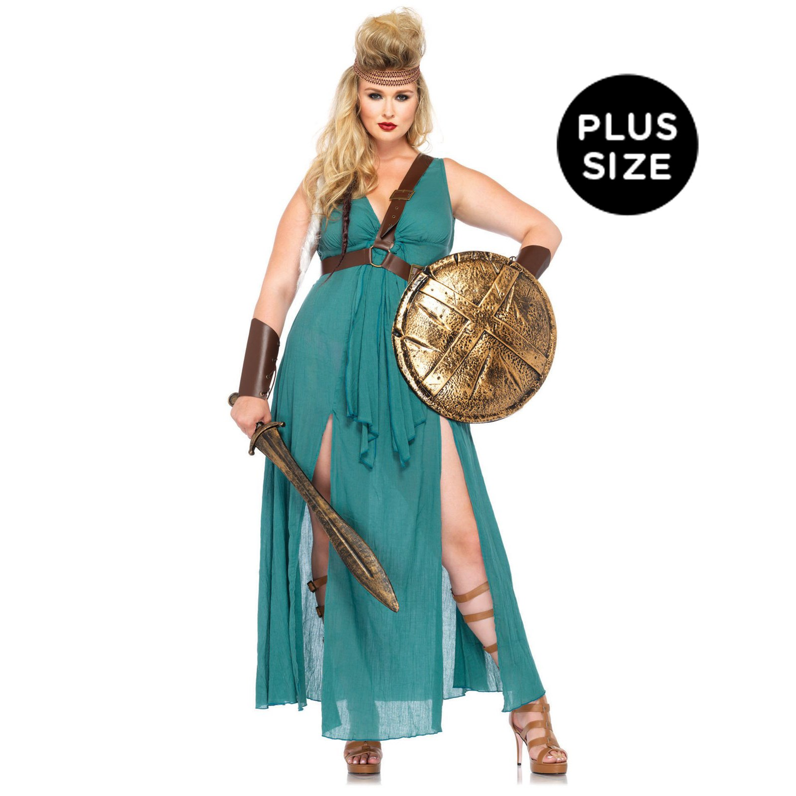 Medieval Warrior Maiden Adult Plus Size Costume