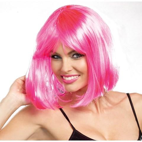 Pink Bob Light Up Wig