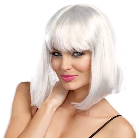 Silver Bob Light Up Wig