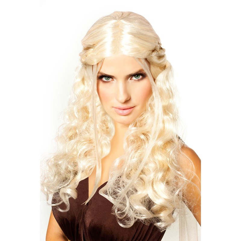 Platinum Blonde Dragon Princess Medieval Braided Wig for the 2015 Costume season.