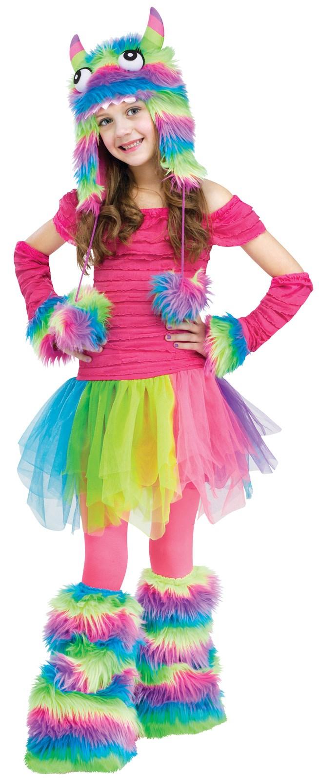 Rainbow Monster Child Costume