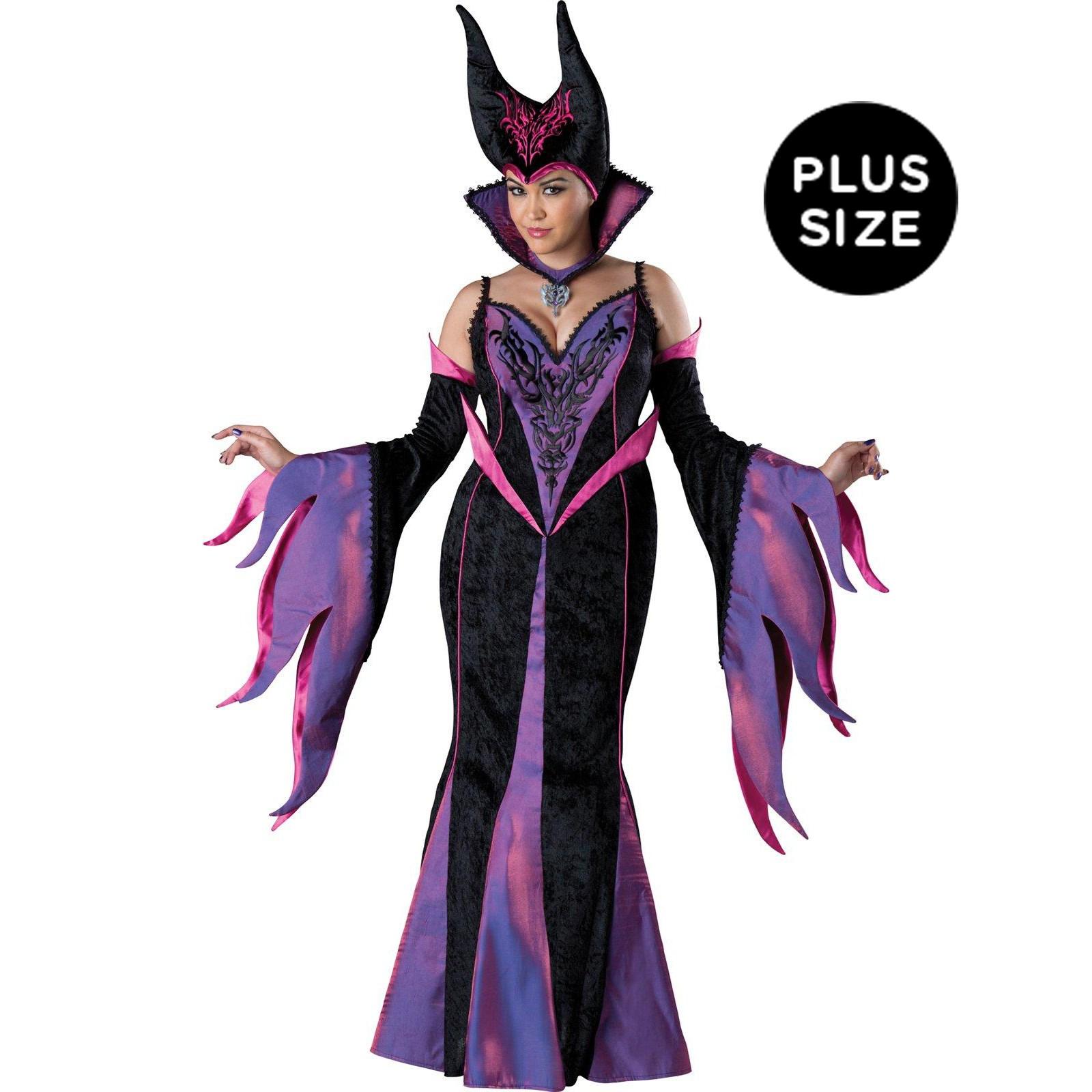 Dark Sorceress Womens Plus Size Dress Costume