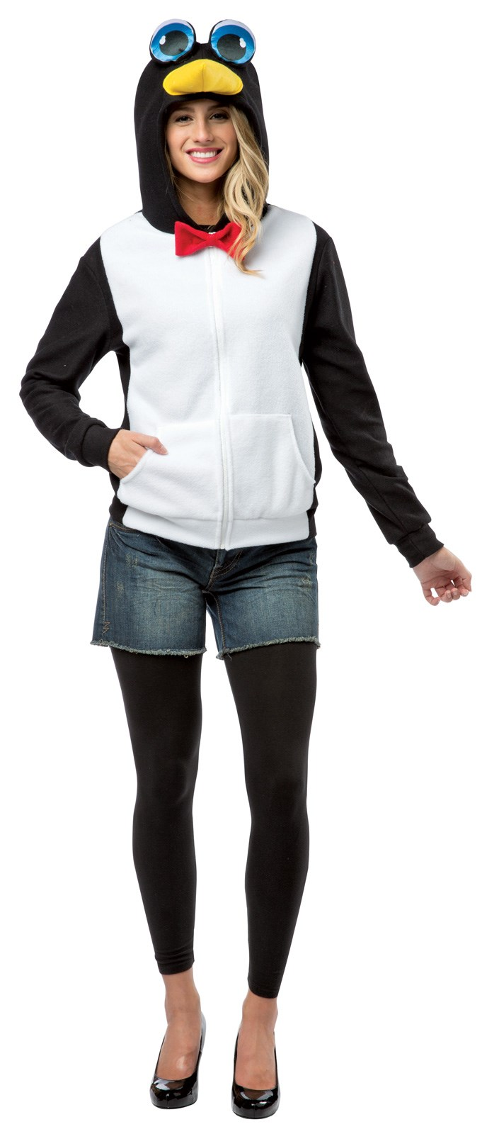 Black And White Penguin Hoodie