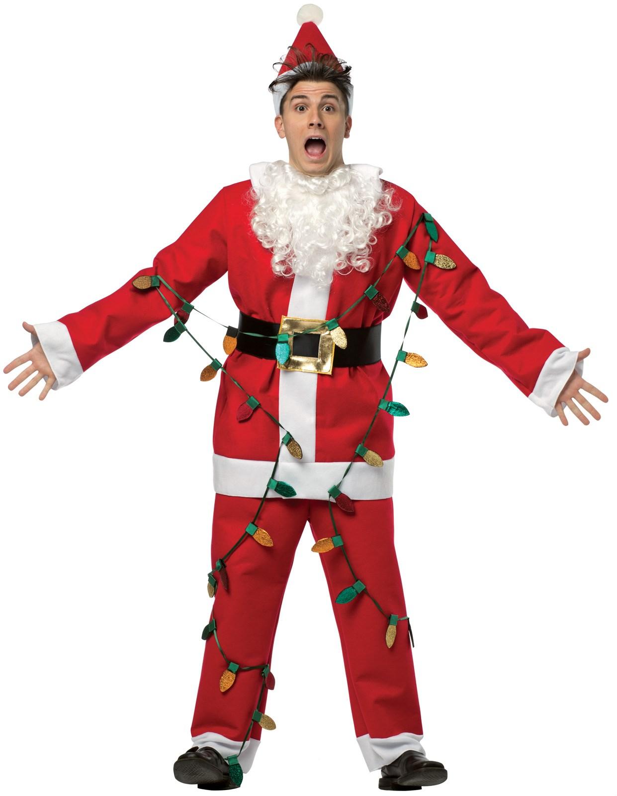 National Lampoons Christmas Vacation - Adult Light Up Santa Costume