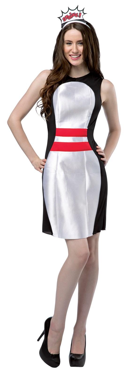 Bowling Pin Adult Dress Costume