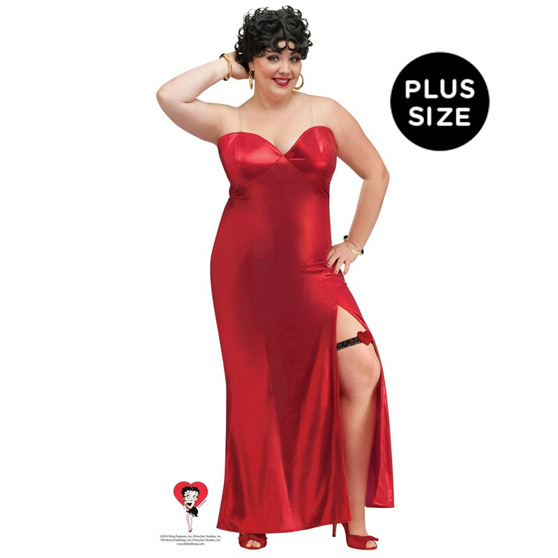Betty Boop Adult Plus Size Dress Costume for the 2015 Costume season.