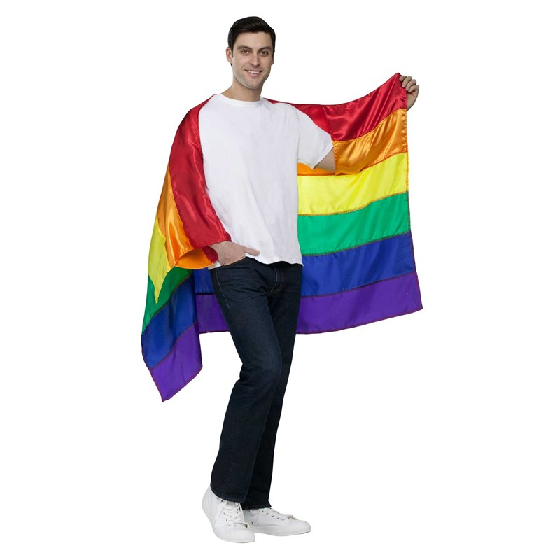 Rainbow Adult Pride Cape for the 2015 Costume season.