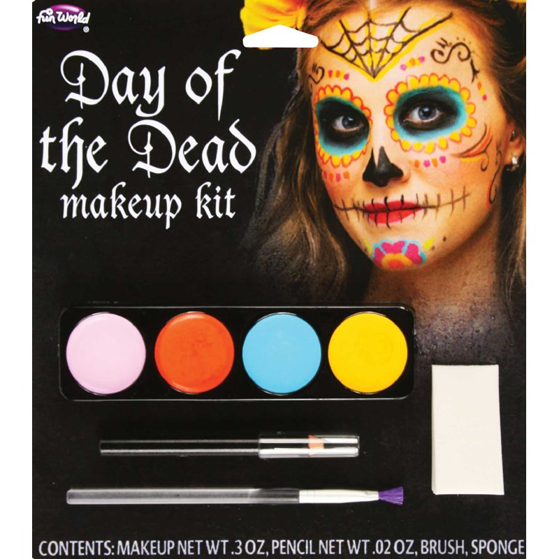 Day Of The Dead Womens Makeup Kit for the 2015 Costume season.