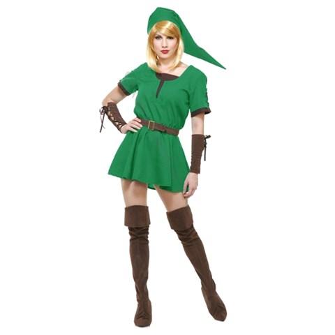 Elf Warrior Womens Princess Dress Costume