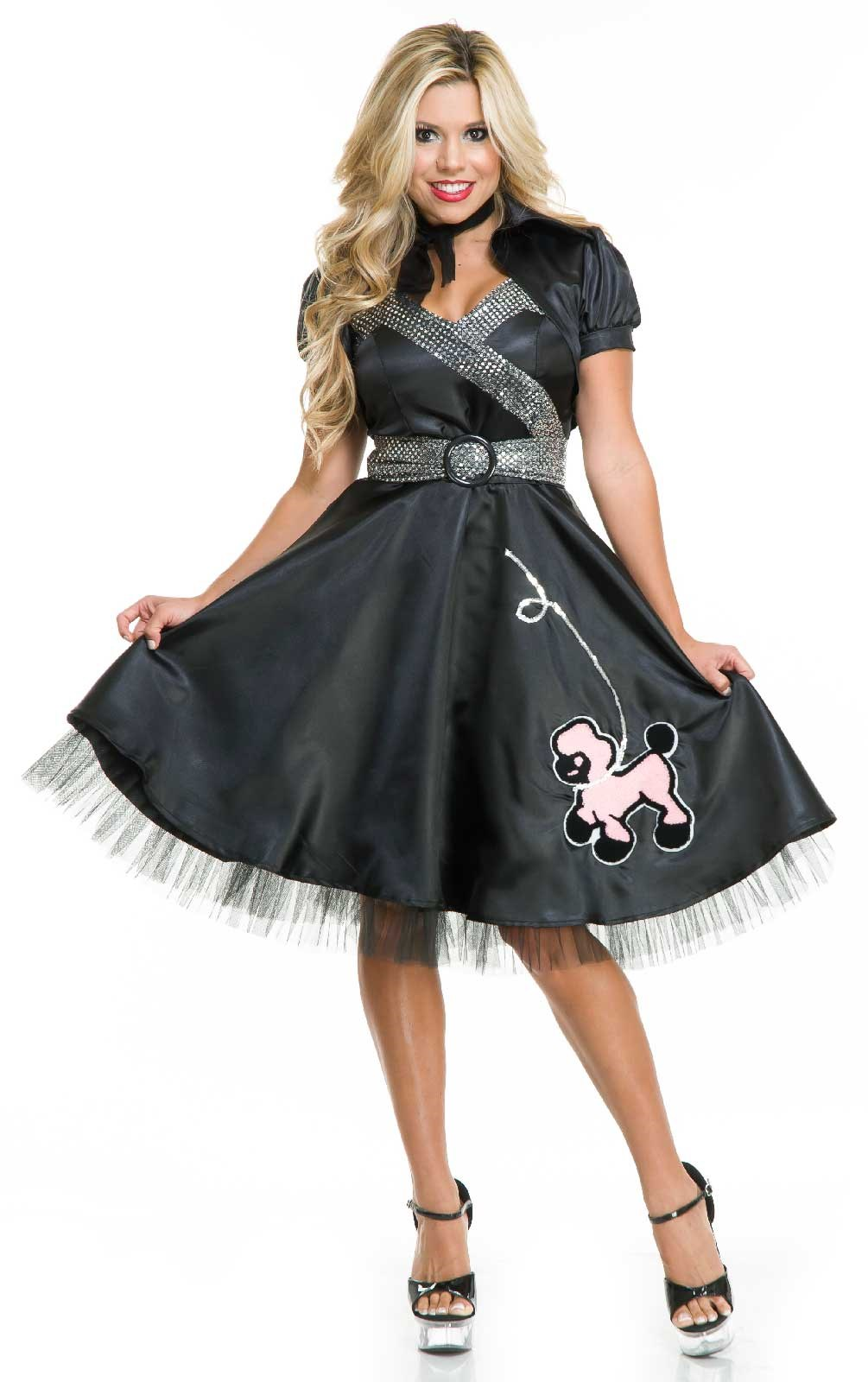 Satin Poodle Dress – Womens Costume