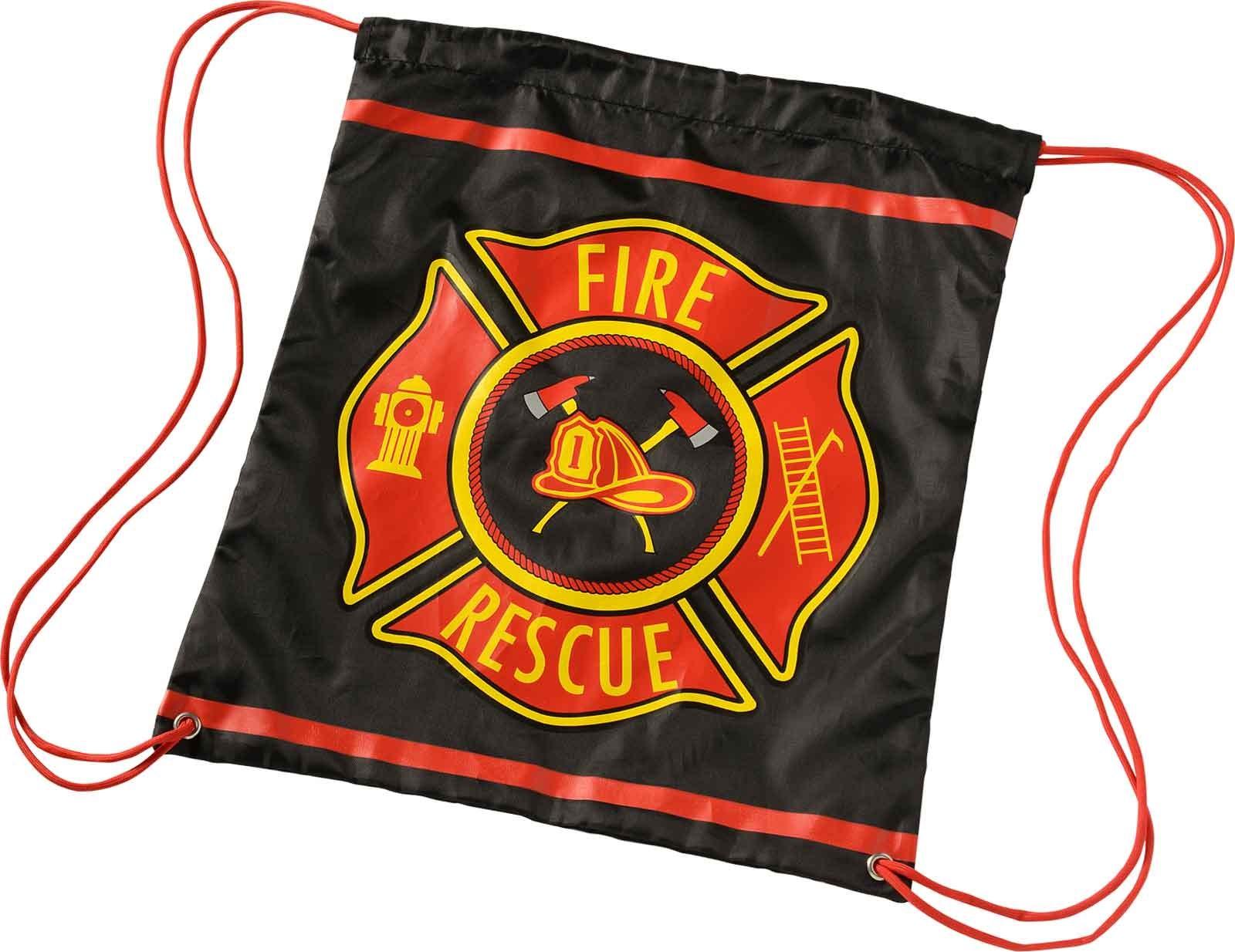 Firefighter Drawstring Backpack