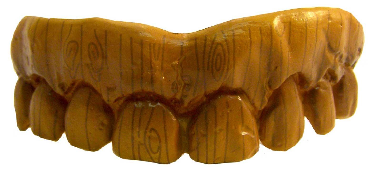 Image of Fake Wooden Teeth
