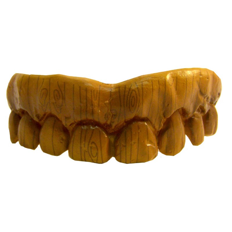 Fake Wooden Teeth for the 2015 Costume season.