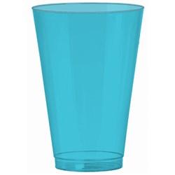 Caribbean Blue 14 oz. Premium Plastic Cups (36 count)