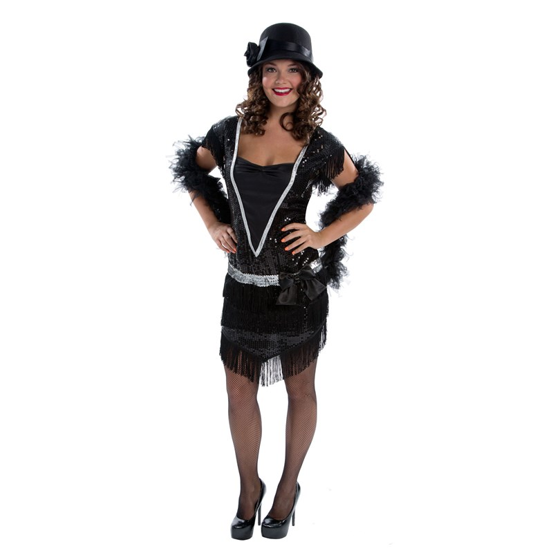 Elegant Womens Flapper Adult Costume for the 2015 Costume season.