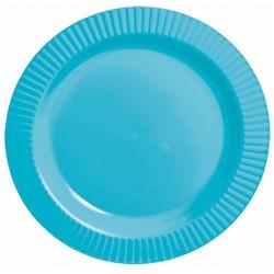 Caribbean Blue Premium Plastic Banquet Dinner Plates (16 count)