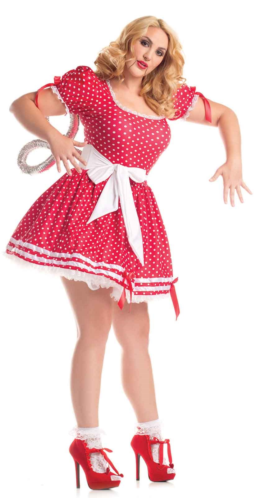 Wind Up Doll – Womens Plus Size Costume