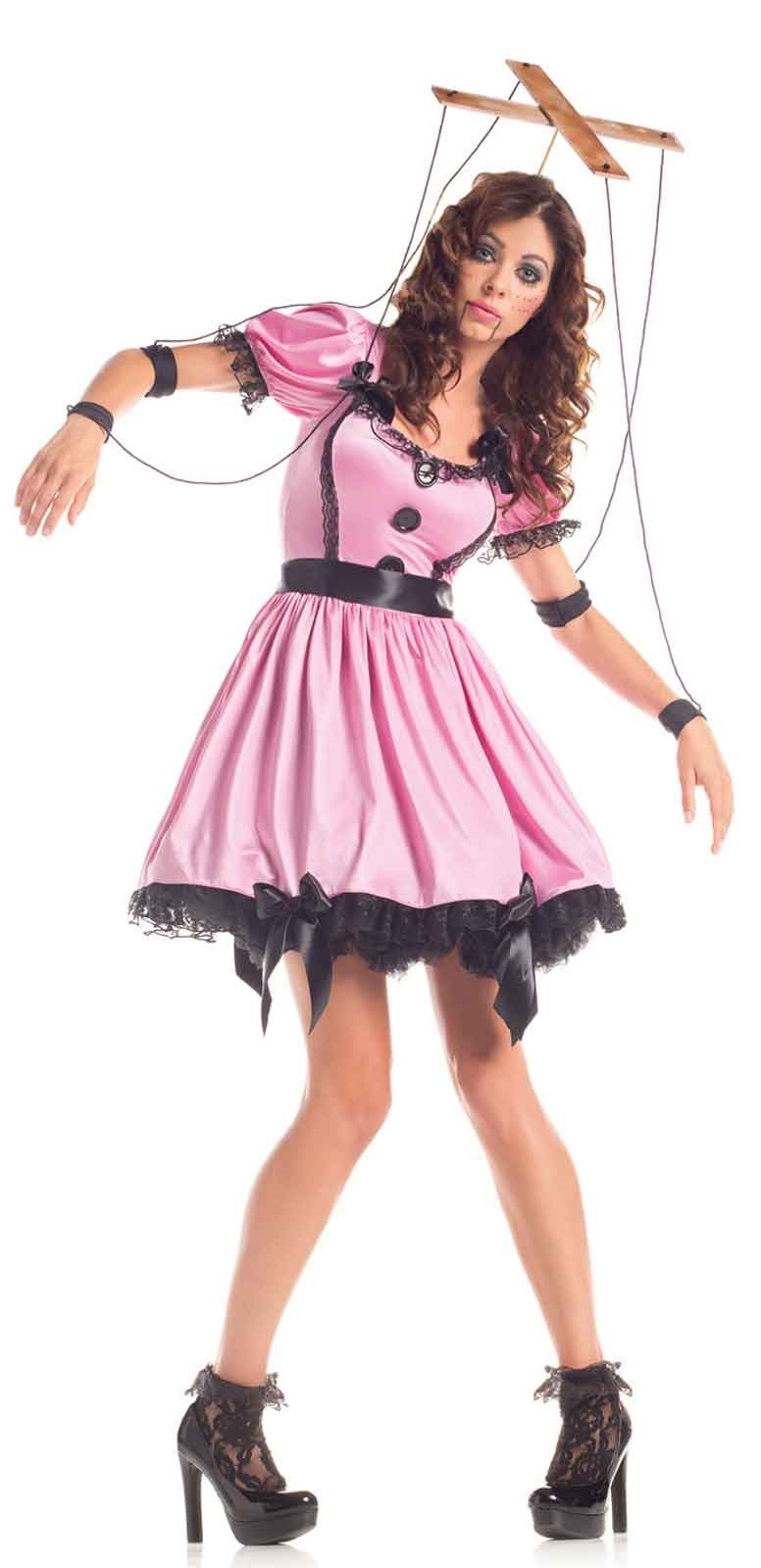 Pink Womens Marionette Costume