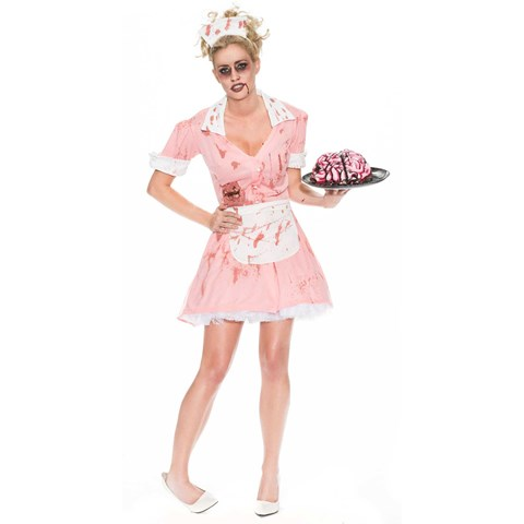 Zombie Waitress Womens Costume