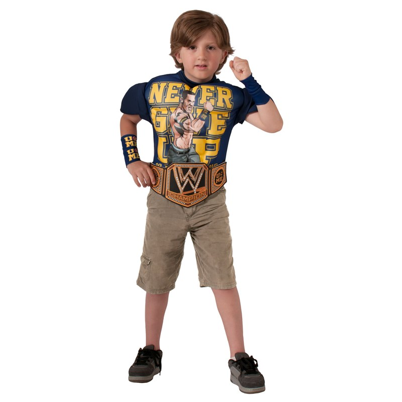WWE   Deluxe John Cena Muscle Chest Child Shirt Set for the 2015 Costume season.