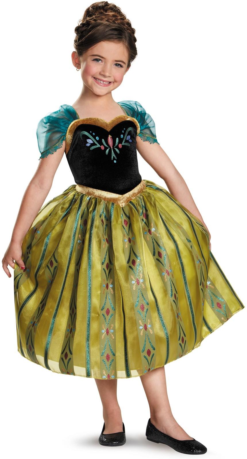 Frozen - Anna Coronation Deluxe Girls Costume