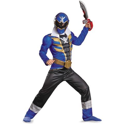 Power Ranger Super Megaforce Blue Ranger Muscle Kids Costume