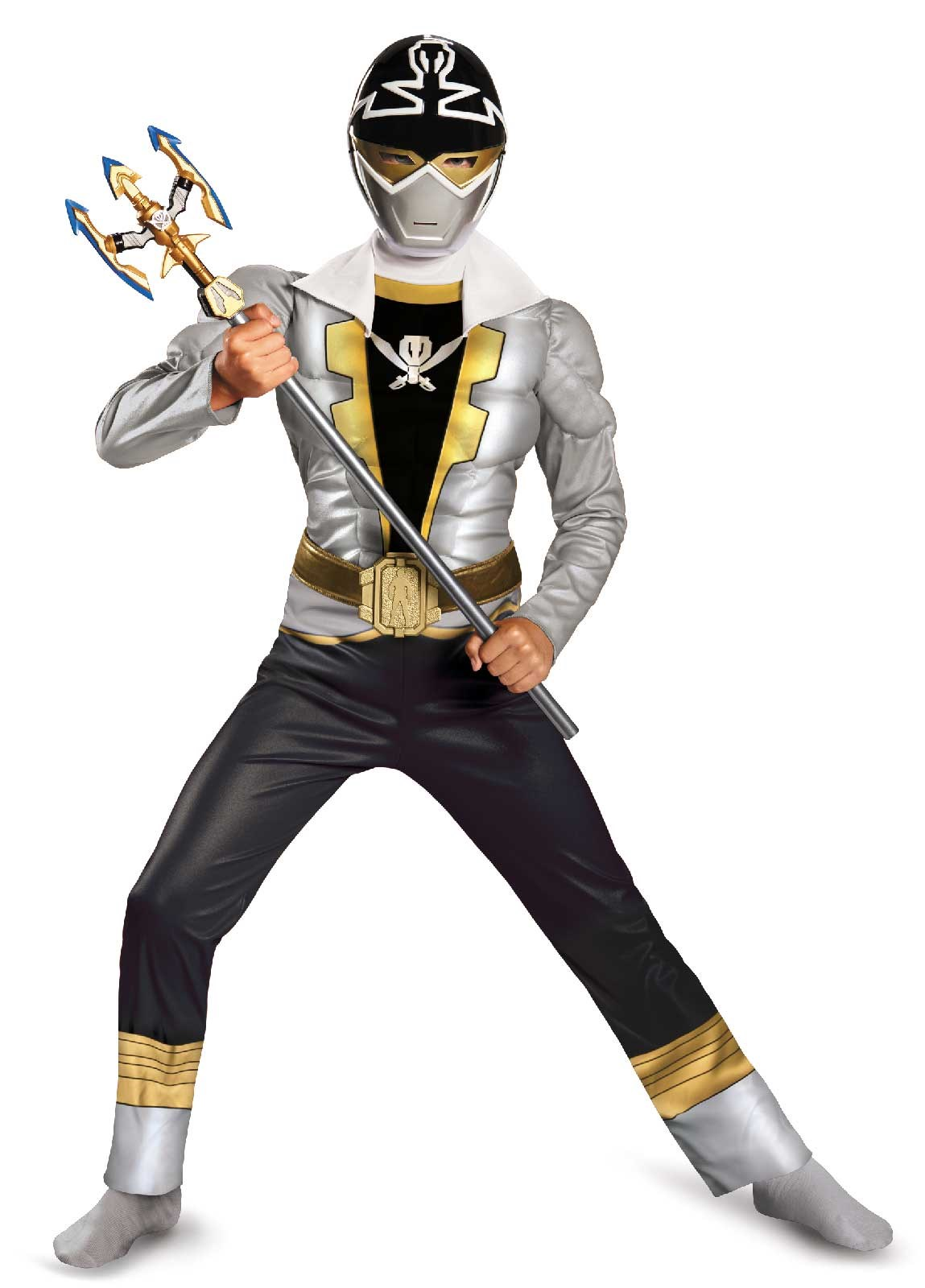 Power Ranger Super Megaforce Special Ranger Silver Muscle Kids Costume