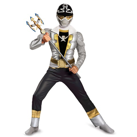 Power Ranger Super Megaforce Special Ranger Silver Muscle Kids Costume