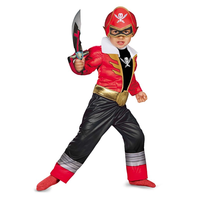 Power Ranger Super Megaforce Red Ranger Toddler  and  Child Muscle Costume for the 2015 Costume season.