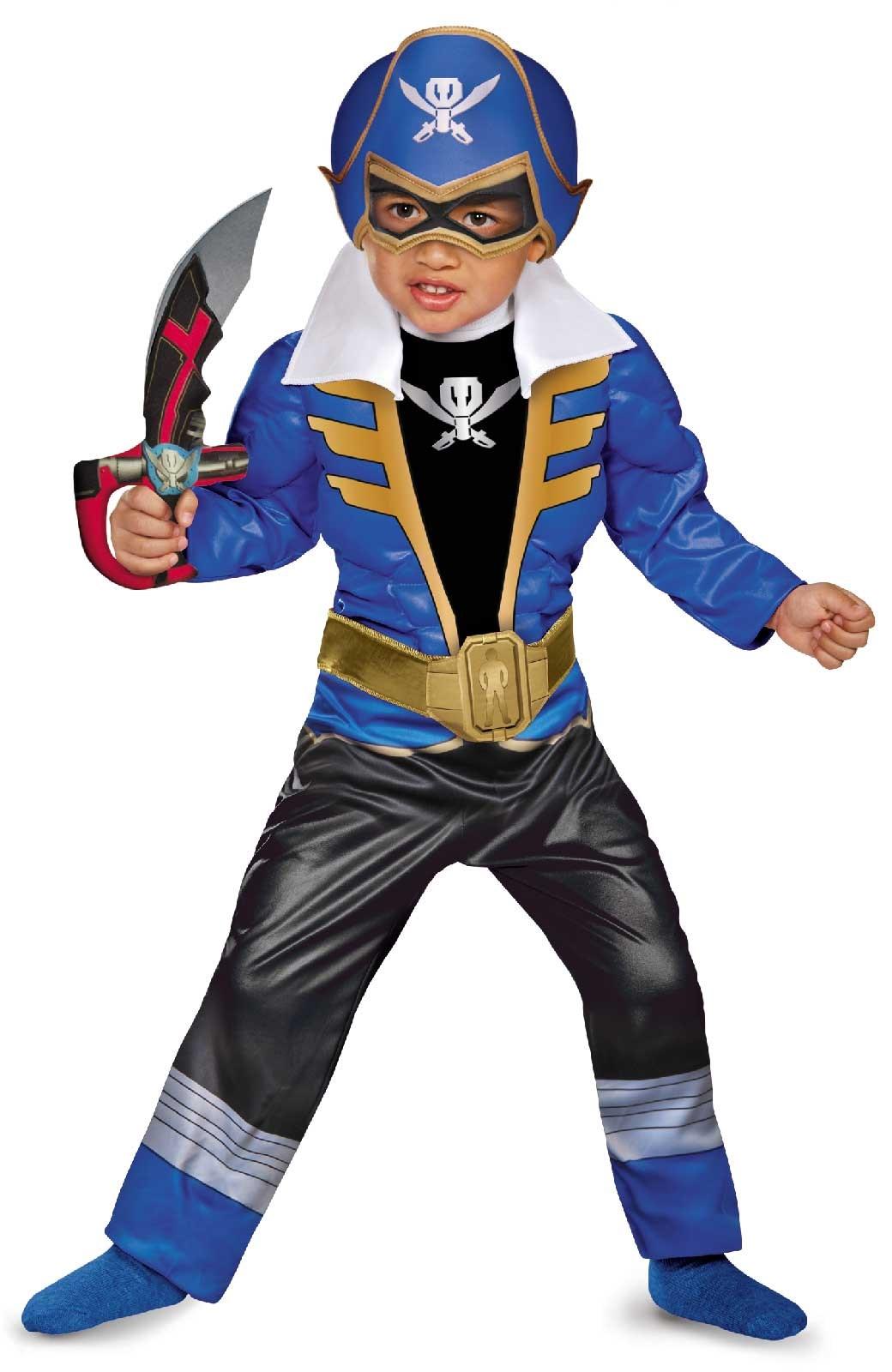 Power Ranger Super Megaforce Blue Ranger Toddler / Child Muscle Costume