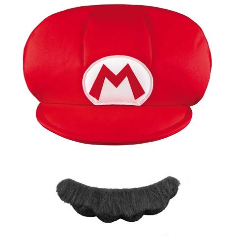Super Mario Brothers Mario Kids Hat & Mustache