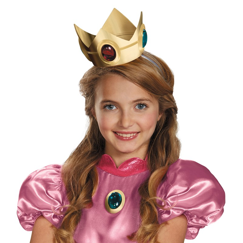 Super Mario Brothers Princess Peach Crown Amulet for the 2015 Costume season.