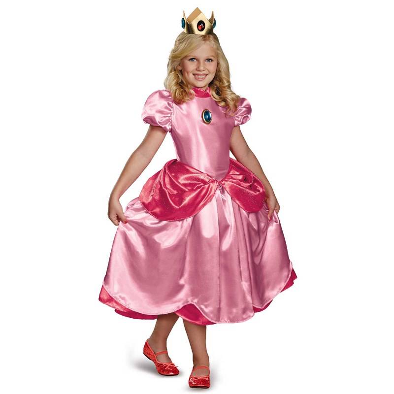 Super Mario Brothers Deluxe Princess Peach Costume for the 2015 Costume season.