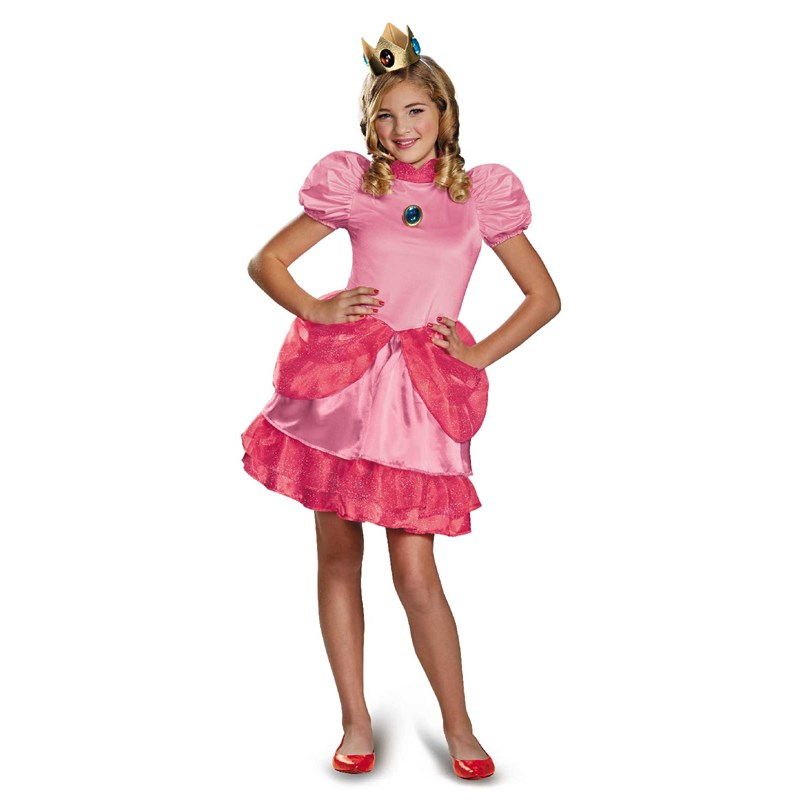 Super Mario Brothers Tween Princess Peach Costume for the 2015 Costume season.